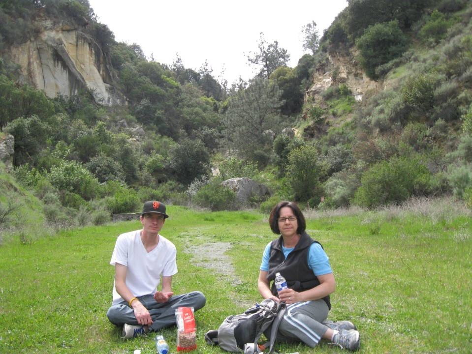 Andrew and Janet in the canyon.