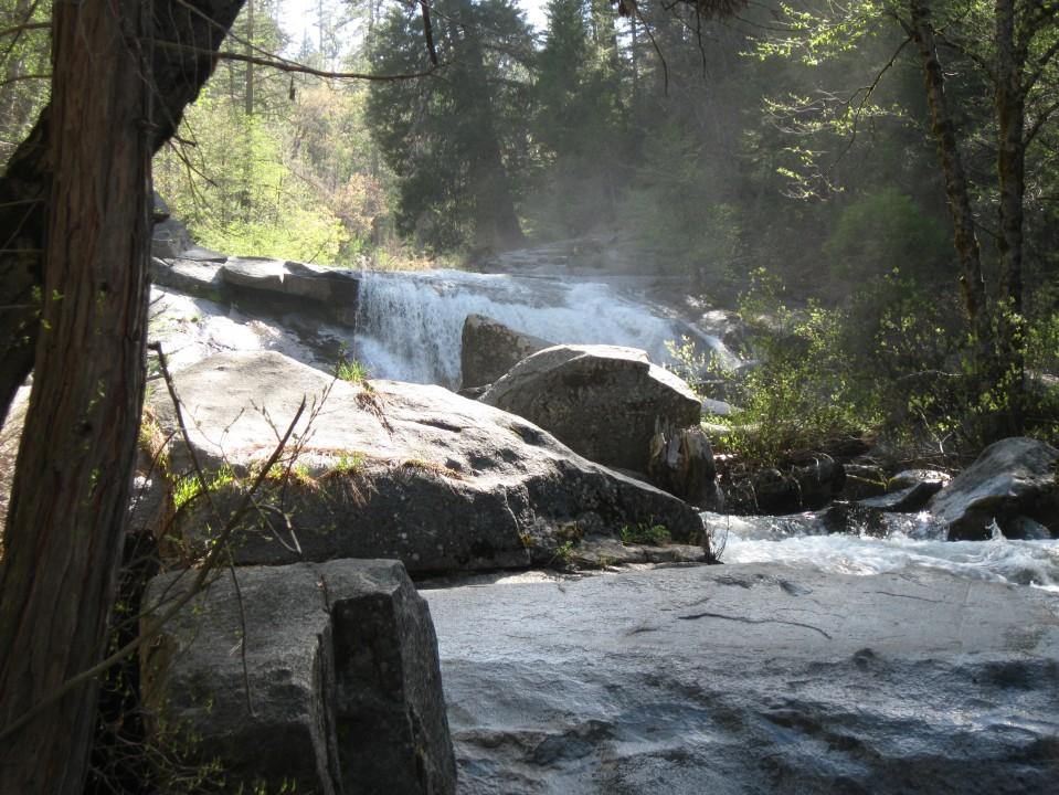 The upper most cascade of Carlon Falls.