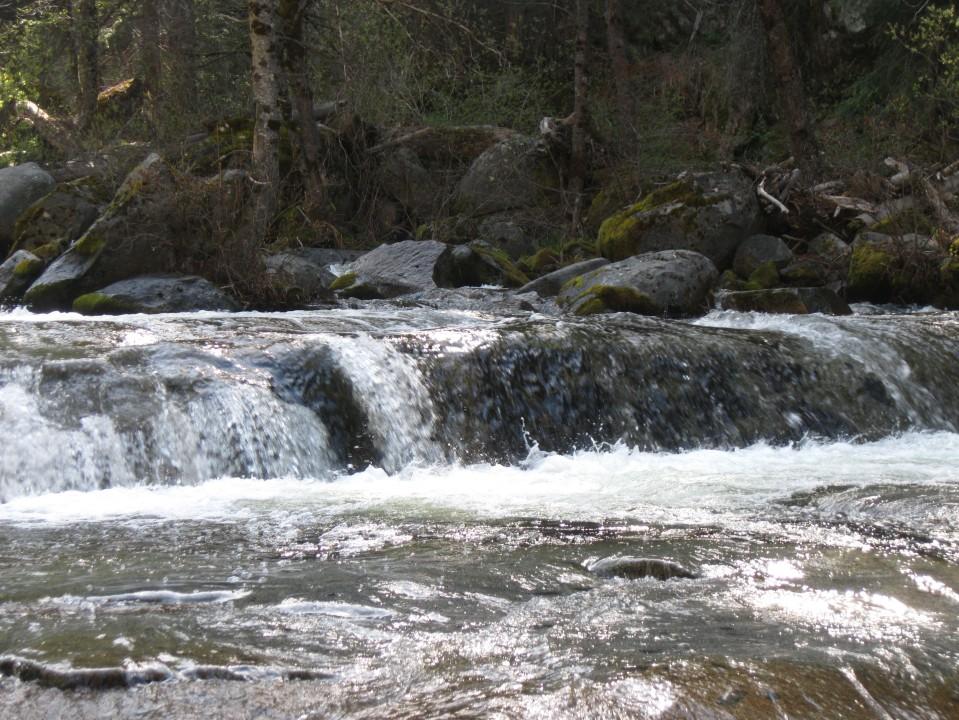 A lower cascade of Carlon Falls.