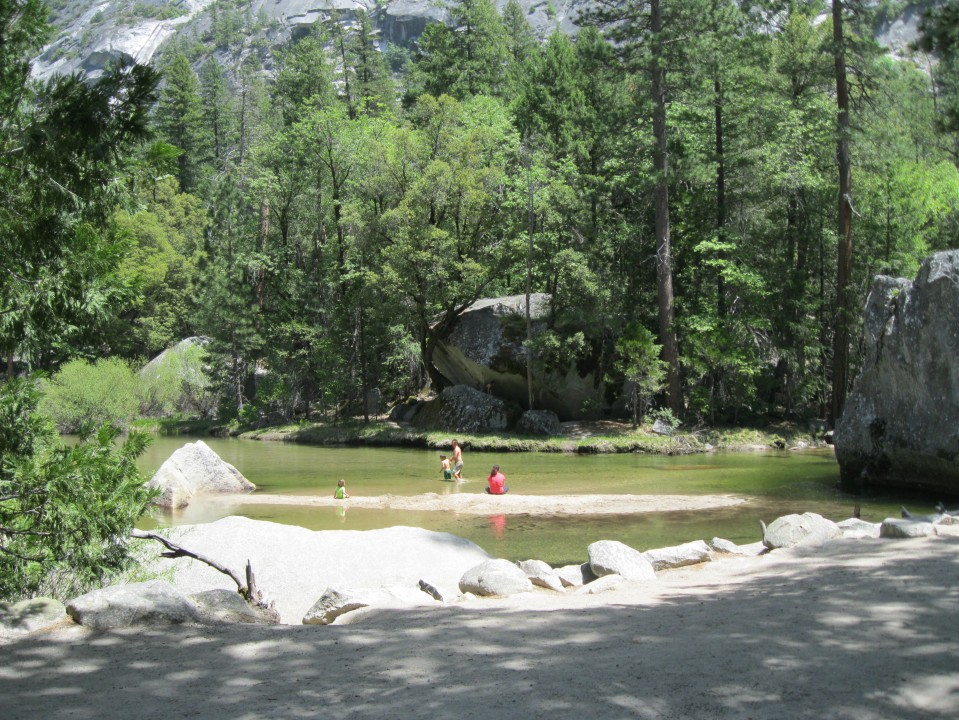 Mirror Lake at the base of Half Dome.
