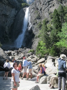 There were lots of people on the Lower Yosemite Falls trail.
