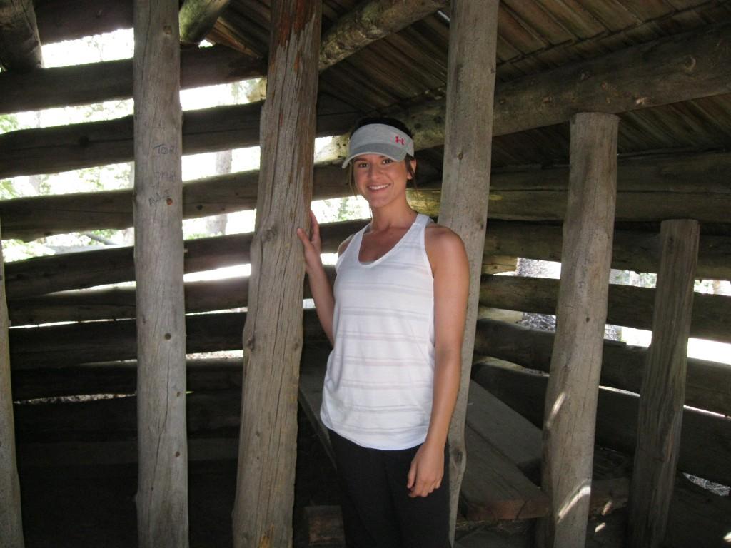 Inside McGurk's cabin.