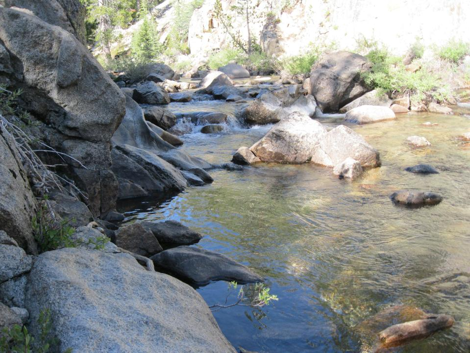 Conness Creek, our water source at camp.