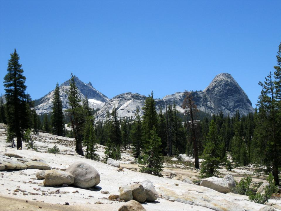 A view from the trail to Glen Aulin.