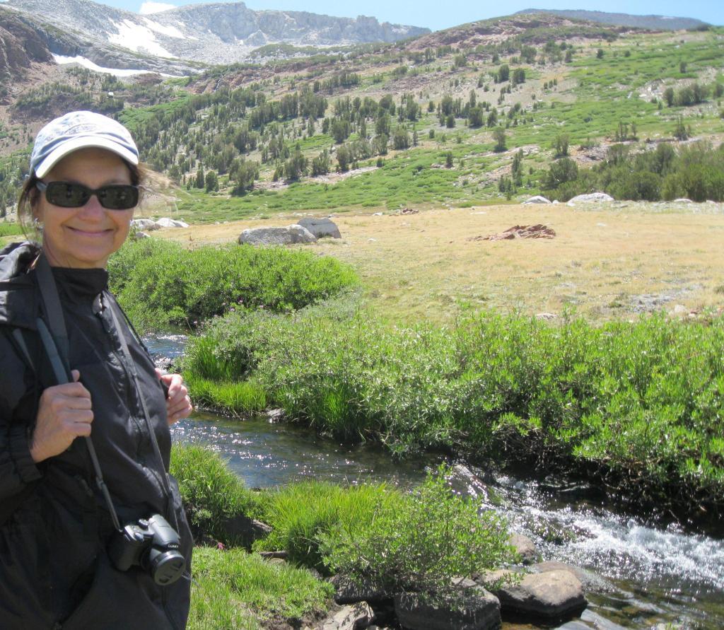 Mary Elizabeth near Parker Pass Creek.