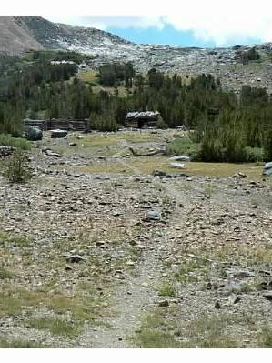 The spur trail leading up to the mines and cabins.