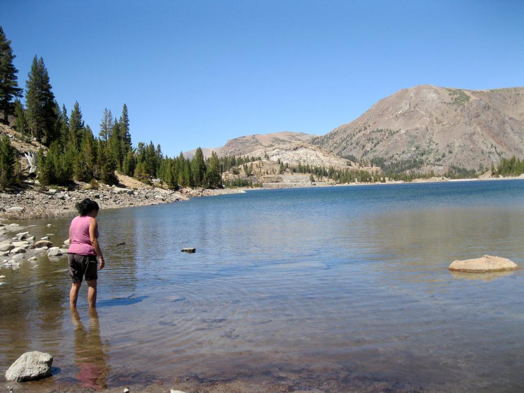 Michelle in Tioga Lake.