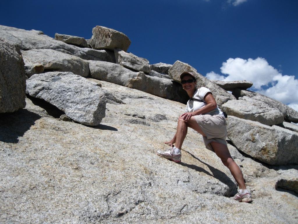 Mary Elizabeth climbing.