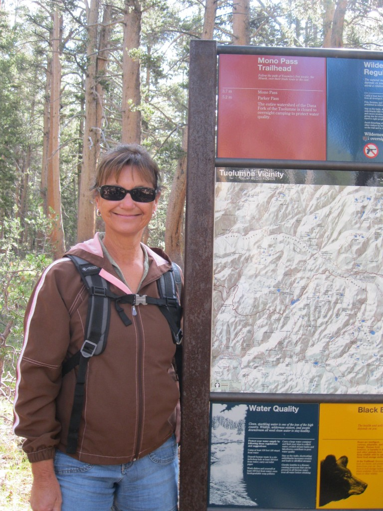 Mary Elizabeth at the trailhead.