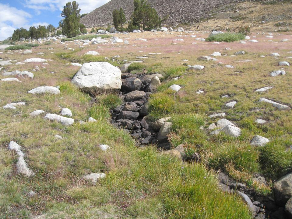 Dry creek between Upper and Middle Gaylor Lakes.