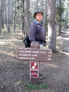 The trailhead is located inside the Tuolumne Meadows campground.