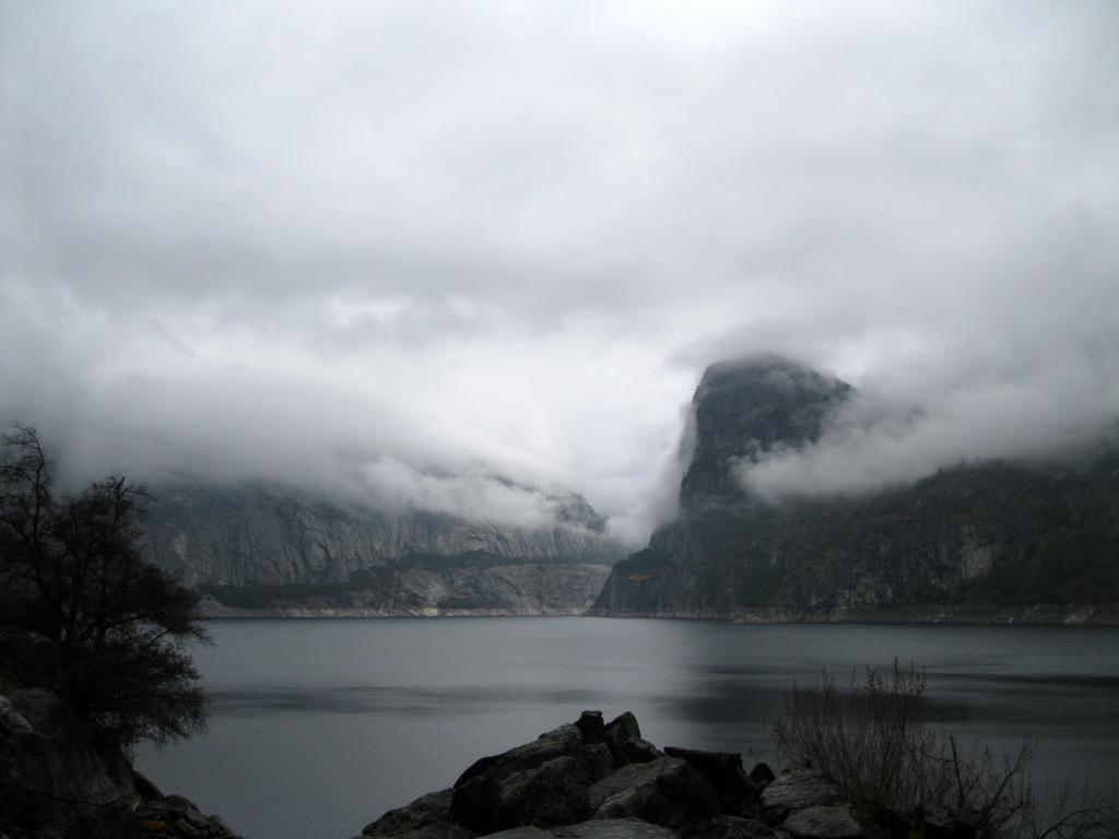 Hetch Hetchy Reservoir and Kolana Rock on the right.