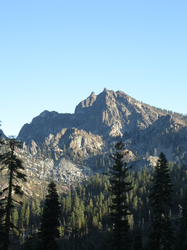 The Sierra Buttes from Packer Lake.