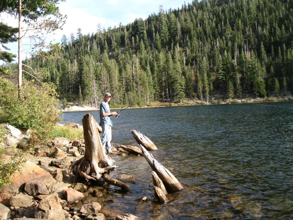 Fishing in Sardine Lake.