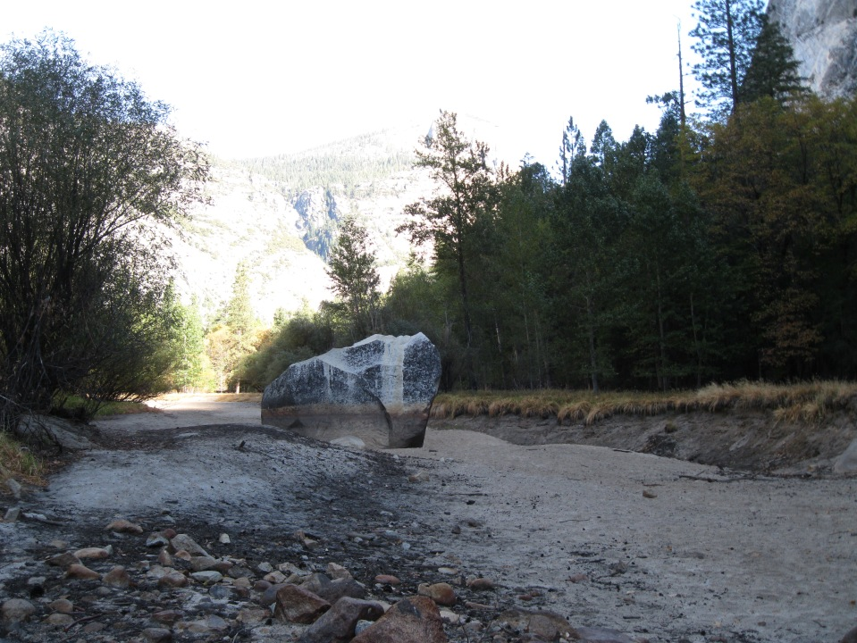Mirror Lake without water, October 27, 2012.
