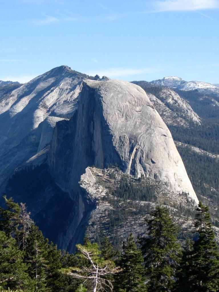 The view of Half Dome taken from Sentinel Dome.