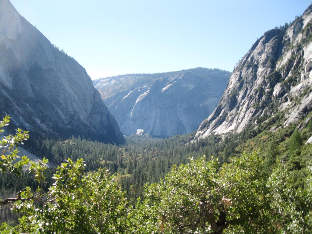 Looking towards Yosemite Valley.