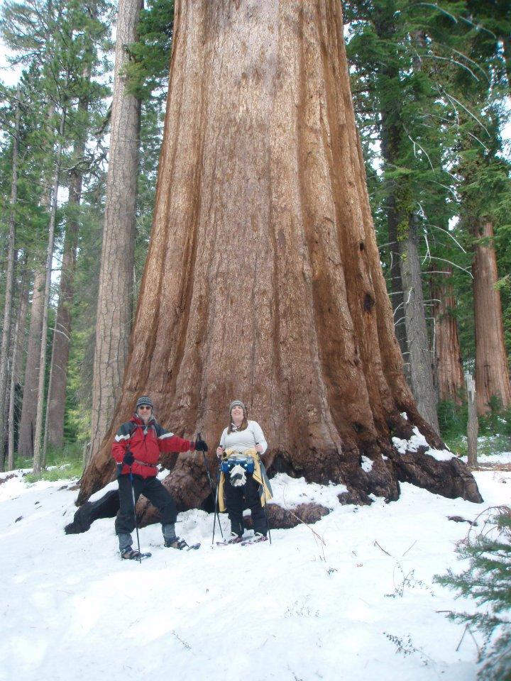 Andy and Maria. Mariposa Grove, Yosemite.  February, 2012.