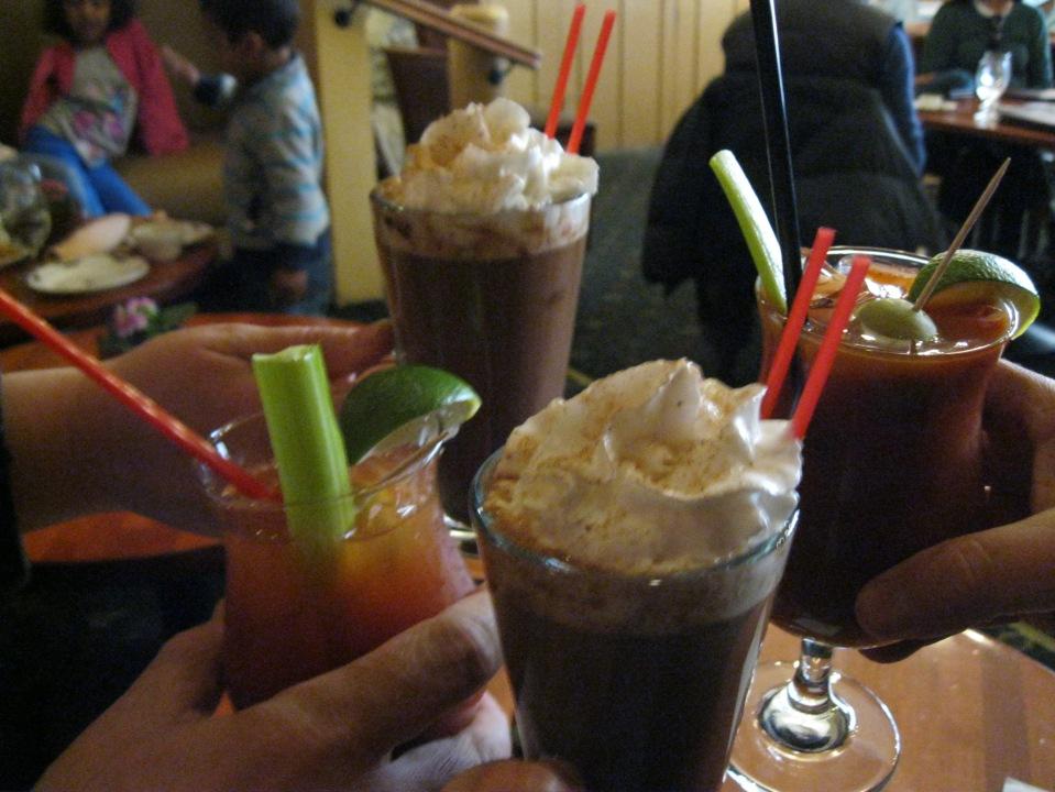 Drinks at the Ahwahnee bar.