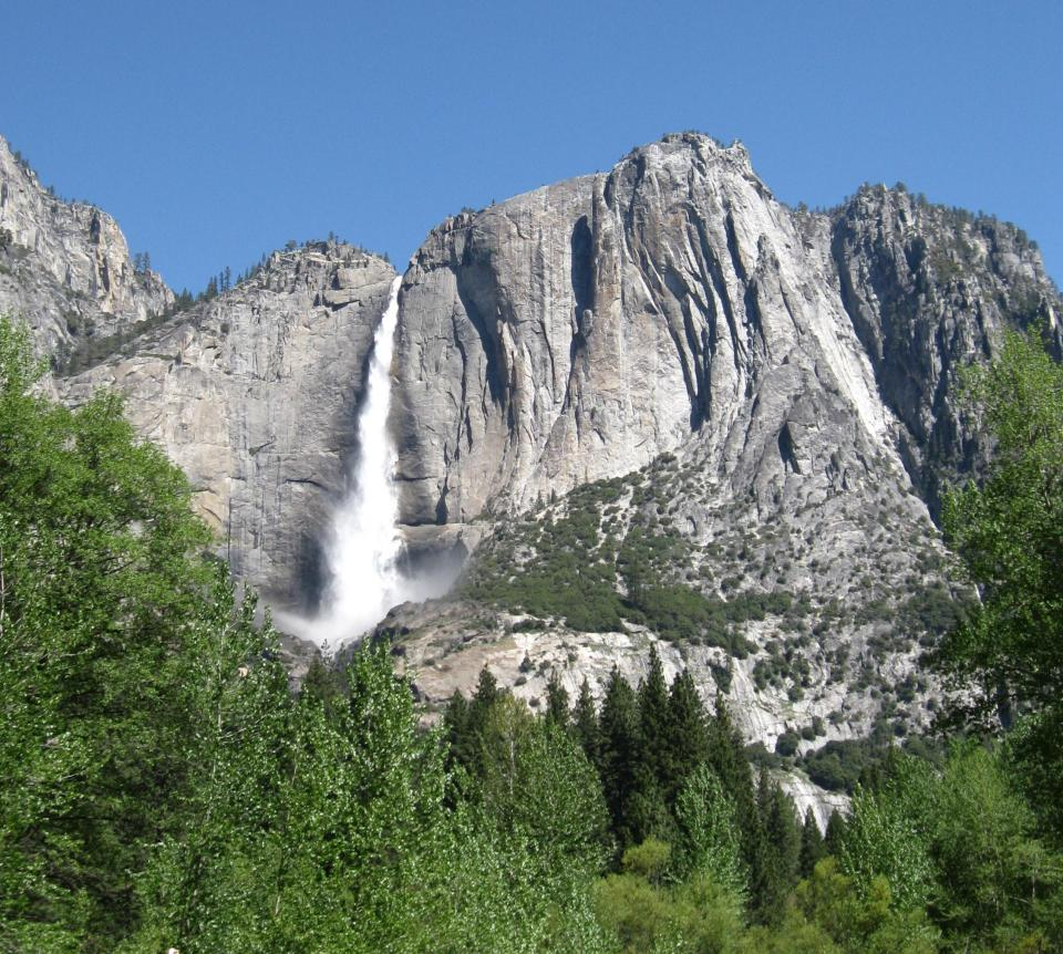 Upper Yosemite Falls from the meadow.