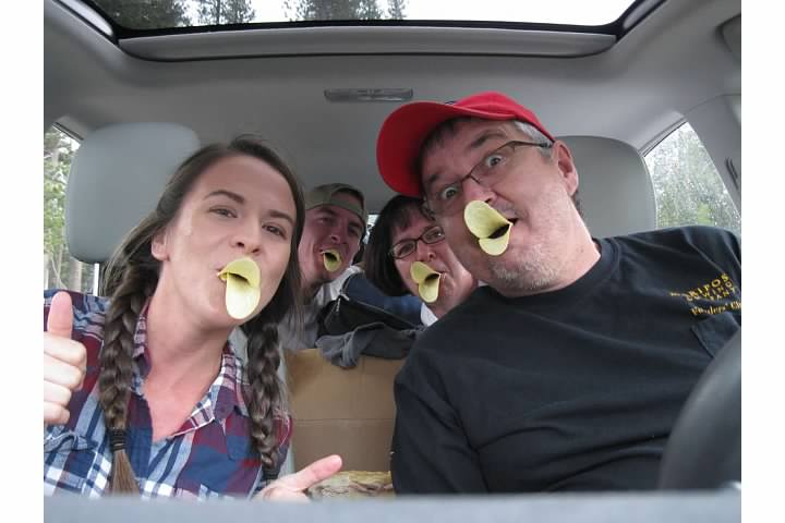 We had Pringles with lunch and couldn't resist taking this photo.
