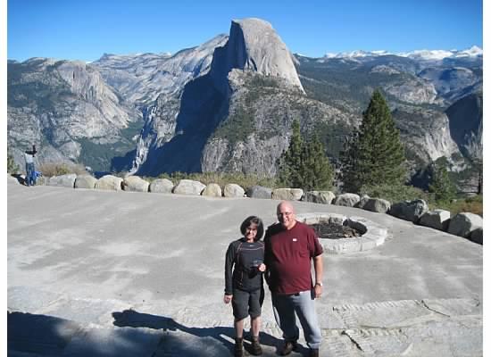 Janet & Dad, Glacier Point, November 2010.