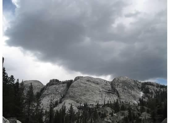 The ominous sky.