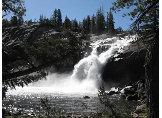 White Cascade at Glen Aulin High Sierra Camp.