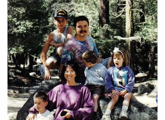 The family in Yosemite, April 1996.