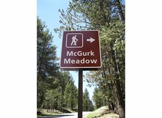 Trailhead sign on Glacier Point Road.