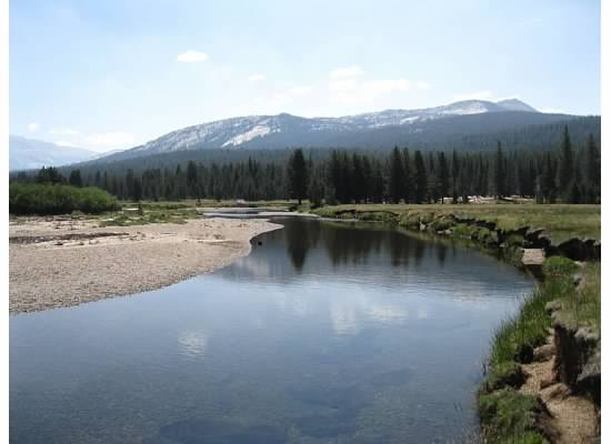 Looking east at the Tuolumne River.