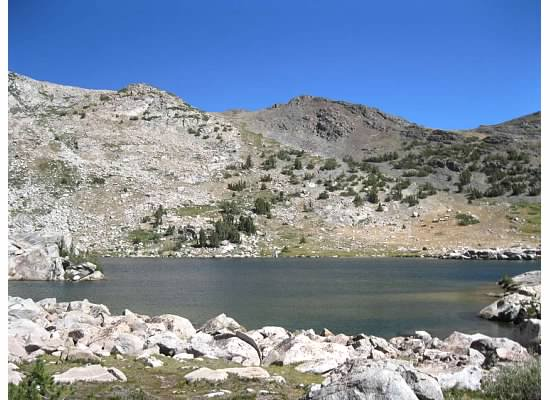 View during lunch of Upper Granite Lake.