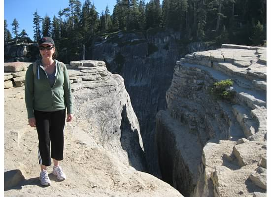Taft Point and the Fissures with my sister.  September 2010.