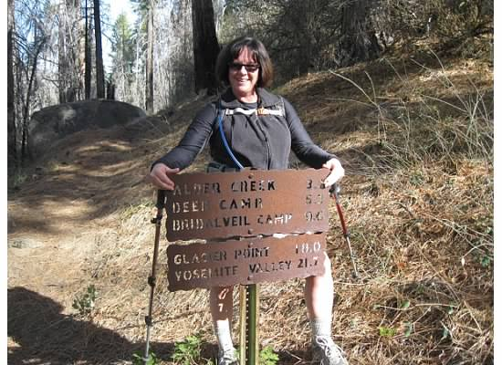 There is a shorter trail leading uphill from Wawona Road.  Here is where the two trails intersect.