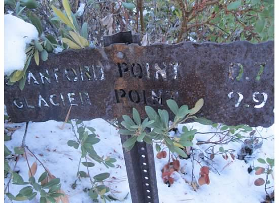 Standford Point trail sign.