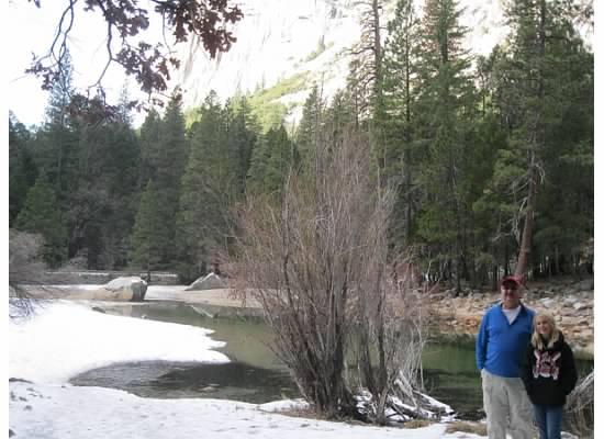 Chris and 10-year old Taylor at Mirror Lake.