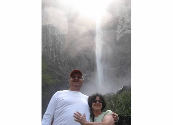 Bridalveil Fall.  We had many opportunities to be photographed together.