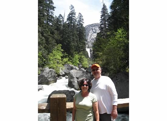 Vernal Fall in the background. May 2014