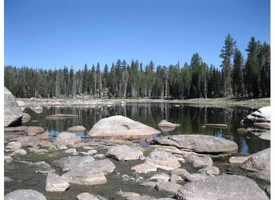 Approaching Harden Lake.