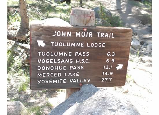 One of several trailhead signs.