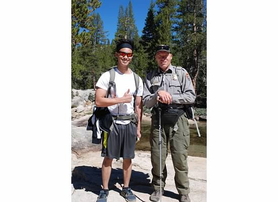 Anthony with the Yosemite Park Ranger.*