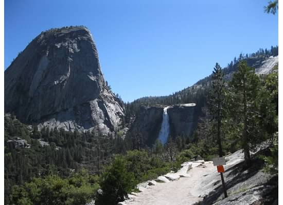 First glimpse of Nevada Fall.
