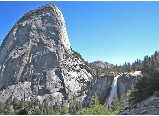 Looking over at Liberty Cap and Nevada Fall.
