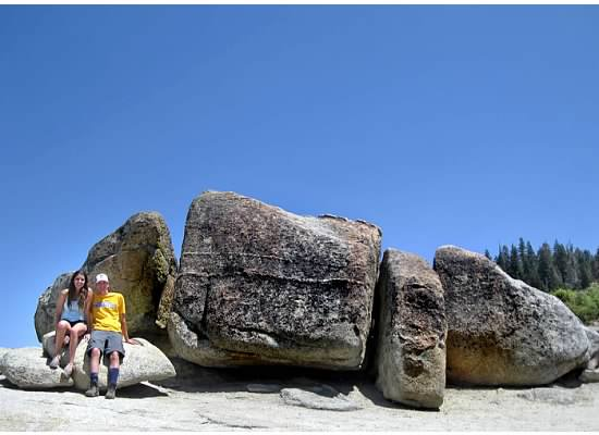 Large rocks at Taft Point.