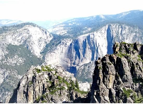 Yosemite Falls, dry.