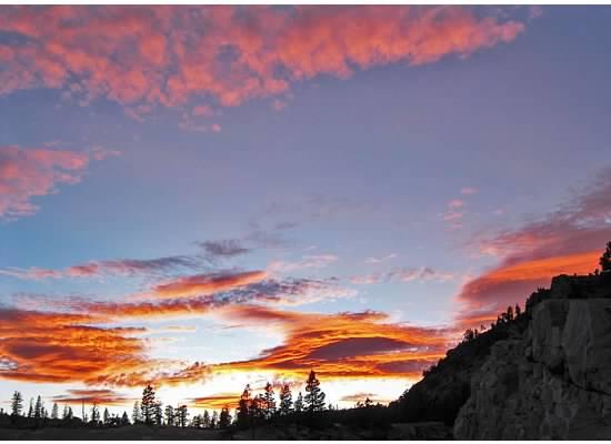 Sunset in Yosemite.