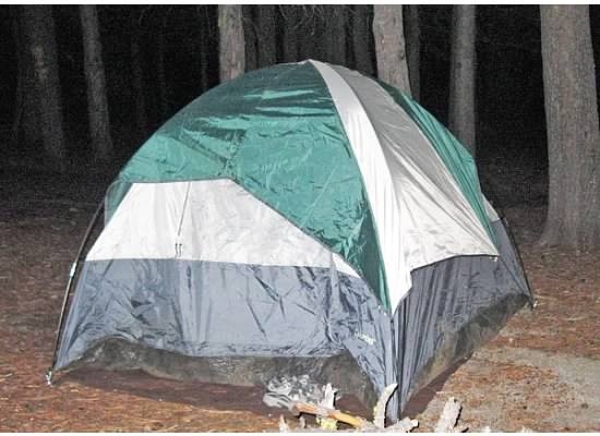 Most of the snoring came from this tent shared by Michael and Dan.