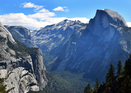 Half Dome,Clouds Rest, Tenaya Canyon, Yosemite, Four Mile Trail