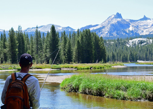 Tuolumne River and Cathedral Range