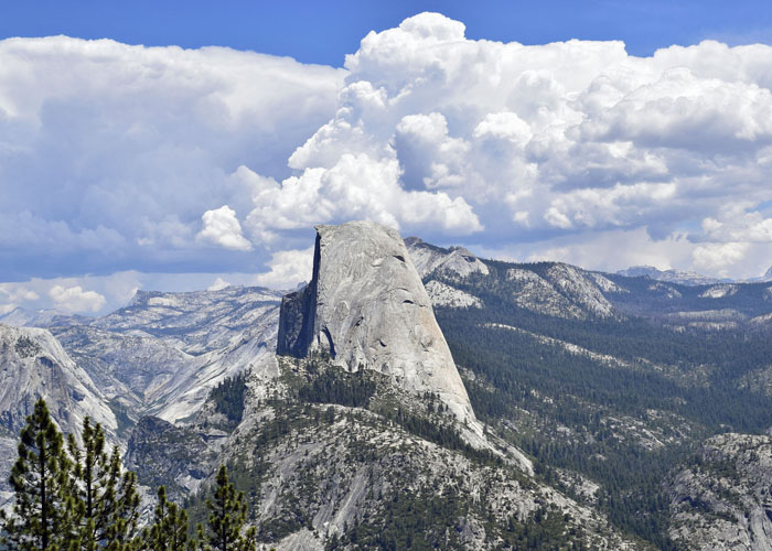 Half Dome from Washburn Point.